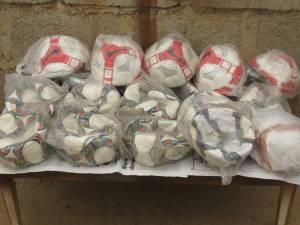 Soccer balls for Nigerian children