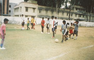 Soccer practice in Chennai India