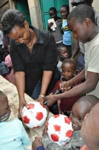 New soccer balls for Wema Children's Home