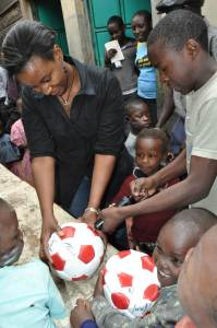 New soccer balls for Wema Children's Home