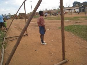 Ugandan soccer goal
