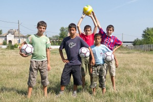 New soccer balls = happy kids in Ukraine