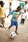 New soccer balls = happy kids in Zimbabwe