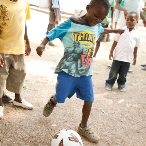 New soccer balls = happy kids in Zimbabwe