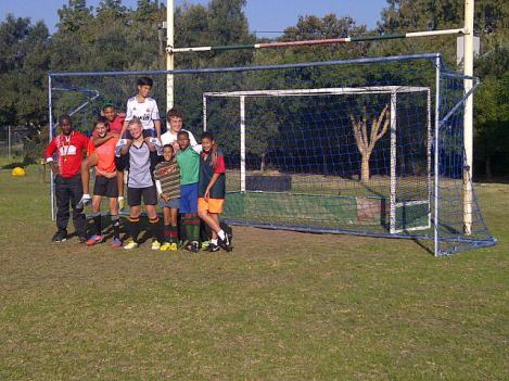 Solid Rock Ball Project soccer goal in South Africa
