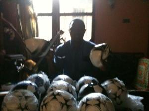 15 new soccer balls in Liberia!