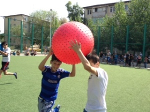 Kids with Big Ball
