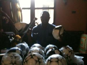 New soccer balls in Liberia