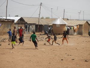 Kids in Nigeria playing with a Ball Project ball