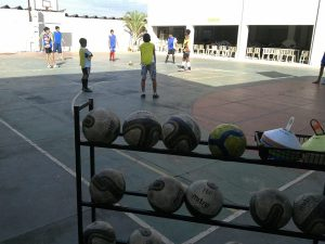 Project balls at a practice