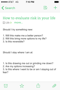 How to evaluate risk in your life