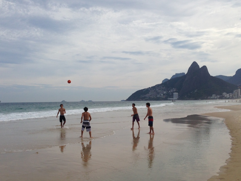 www.brianmcguckin.com - children playing soccer on the beach