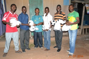 In Nigeria Ball Project balls for Ashaiman, Ghana