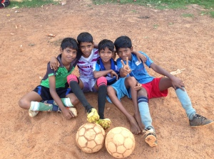 4 soccer players in Chennai, India