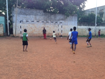 Going for a goal in Chennai