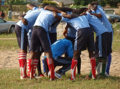 Team Huddle, Nigeria 12.2014