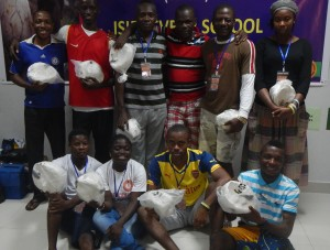 New soccer balls for community sports leaders in Ghana