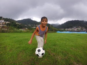 Bloomington to Brazil - Brazilian boy with a Ball Project ball