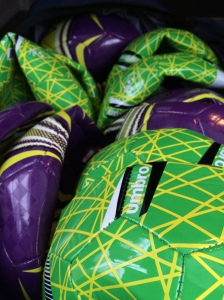 New soccer balls for Brazil