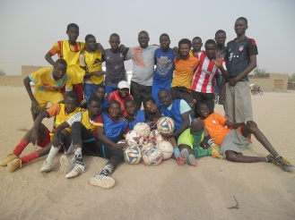 Soccer team in Chad, Africa with Ball Project balls