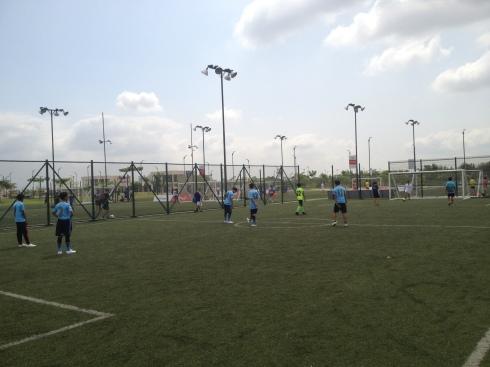 Soccer clinic in Ecuador