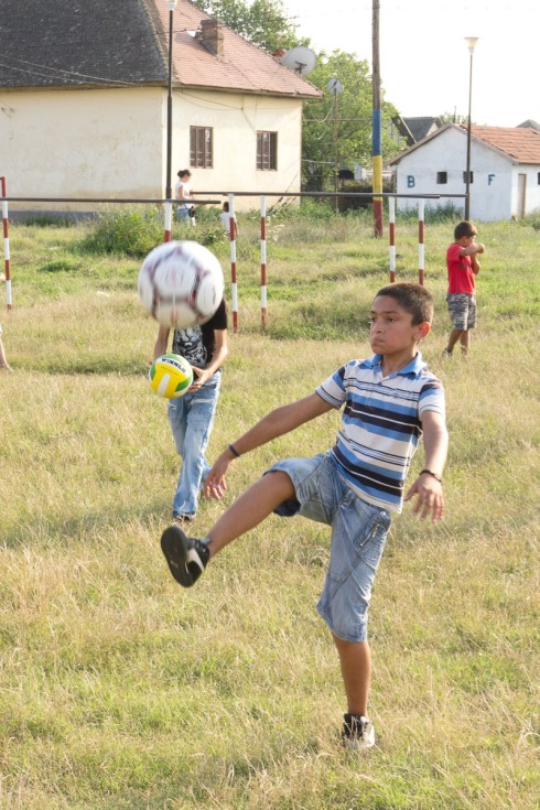 Kids in Romania Playing