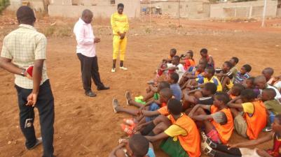 football practice talk