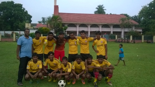 soccer team in Bangladesh with Ball Project balls