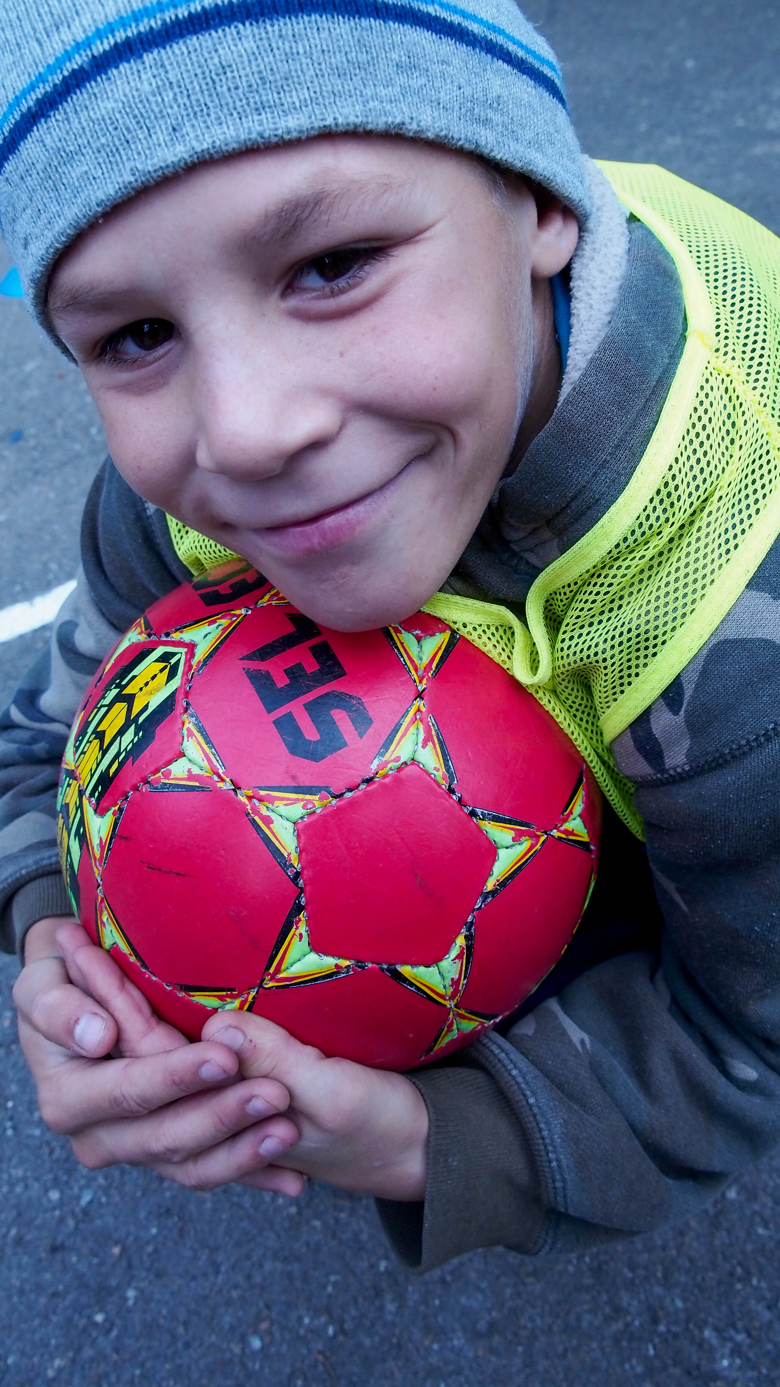 Last Bell boy with soccer ball 6.2020