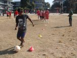 BP Nepal practice dribbling cones 2013
